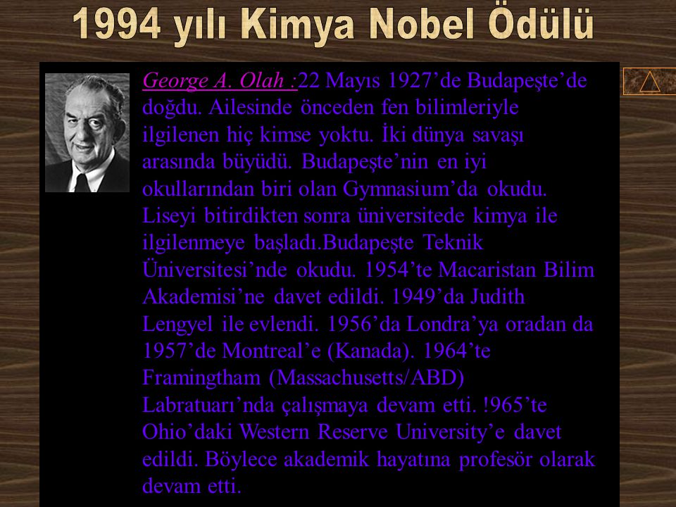 1994 yılı Kimya Nobel Ödülü