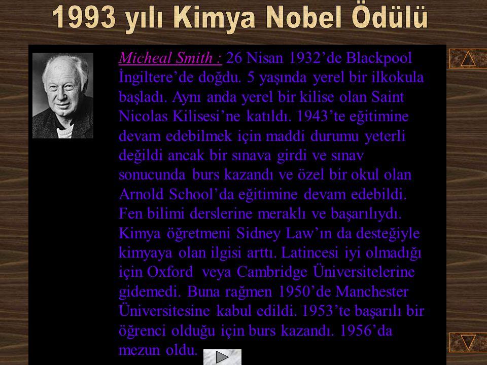 1993 yılı Kimya Nobel Ödülü