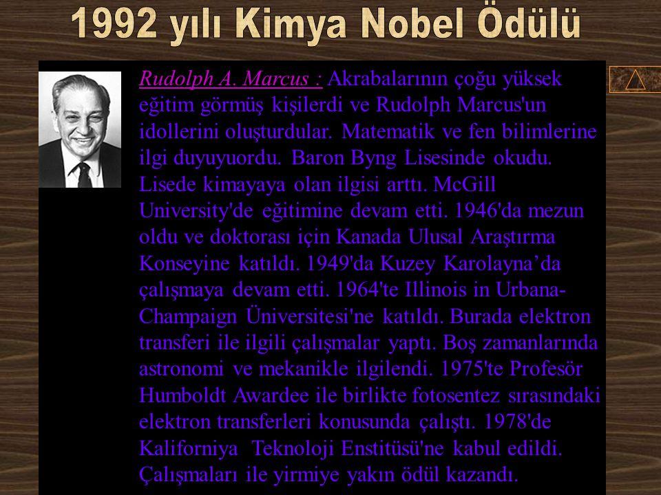 1992 yılı Kimya Nobel Ödülü