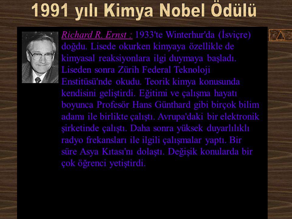 1991 yılı Kimya Nobel Ödülü
