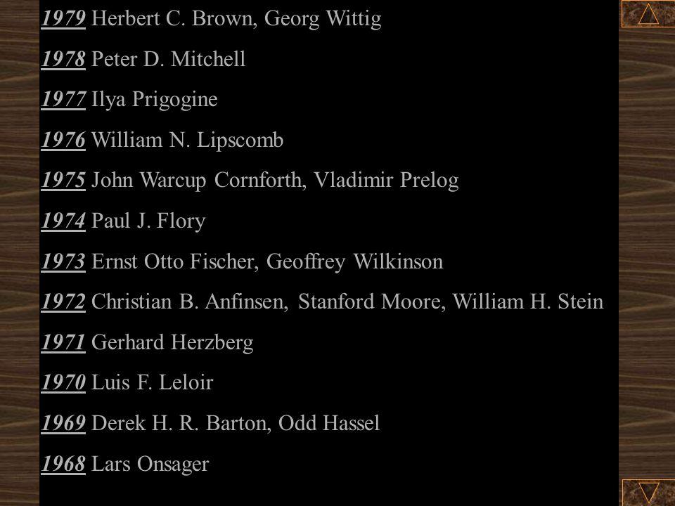1979 Herbert C. Brown, Georg Wittig