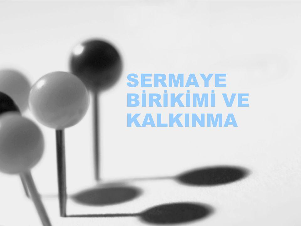 SERMAYE BİRİKİMİ VE KALKINMA