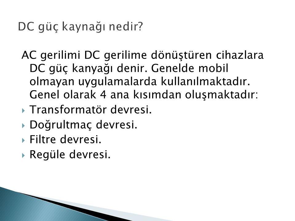 DC güç kaynağı nedir