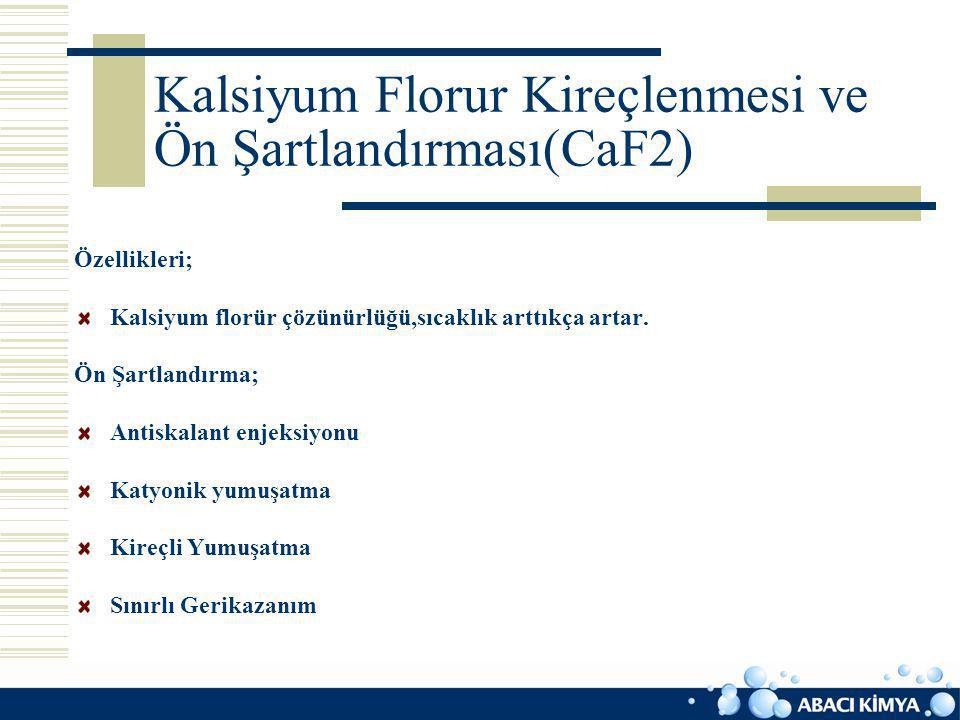 Kalsiyum Florur Kireçlenmesi ve Ön Şartlandırması(CaF2)