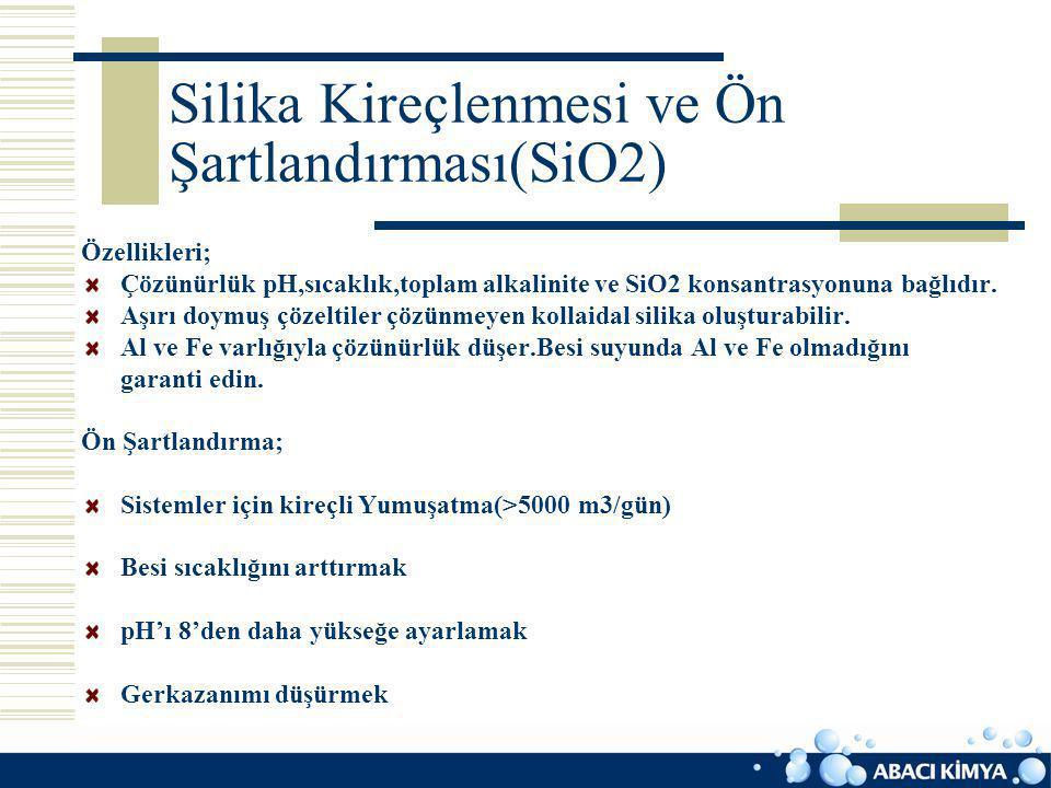 Silika Kireçlenmesi ve Ön Şartlandırması(SiO2)