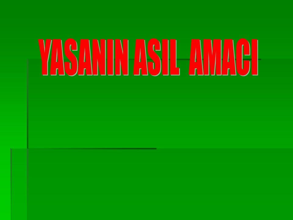 YASANIN ASIL AMACI