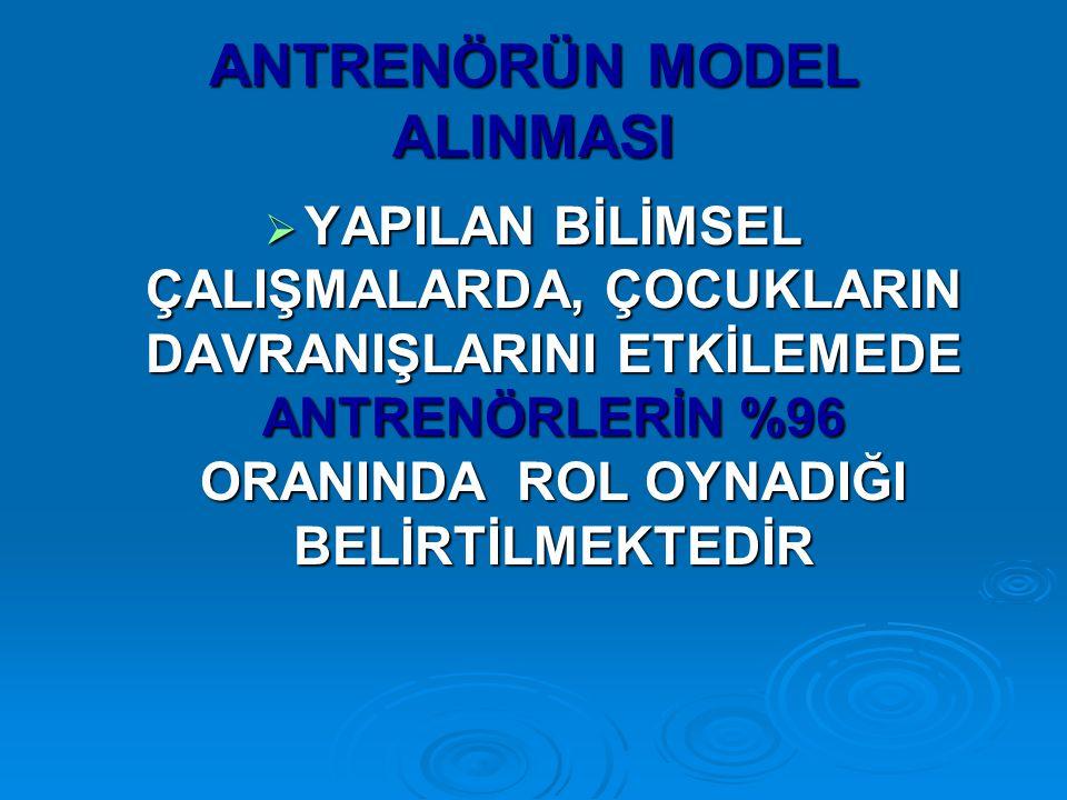 ANTRENÖRÜN MODEL ALINMASI