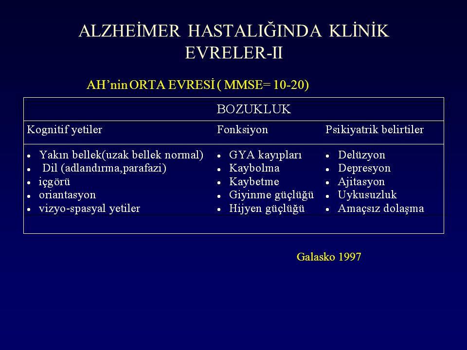 ALZHEİMER HASTALIĞINDA KLİNİK EVRELER-II
