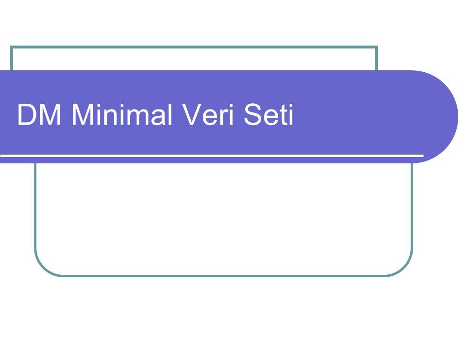 DM Minimal Veri Seti