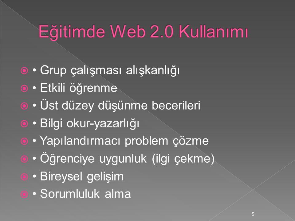 Eğitimde Web 2.0 Kullanımı