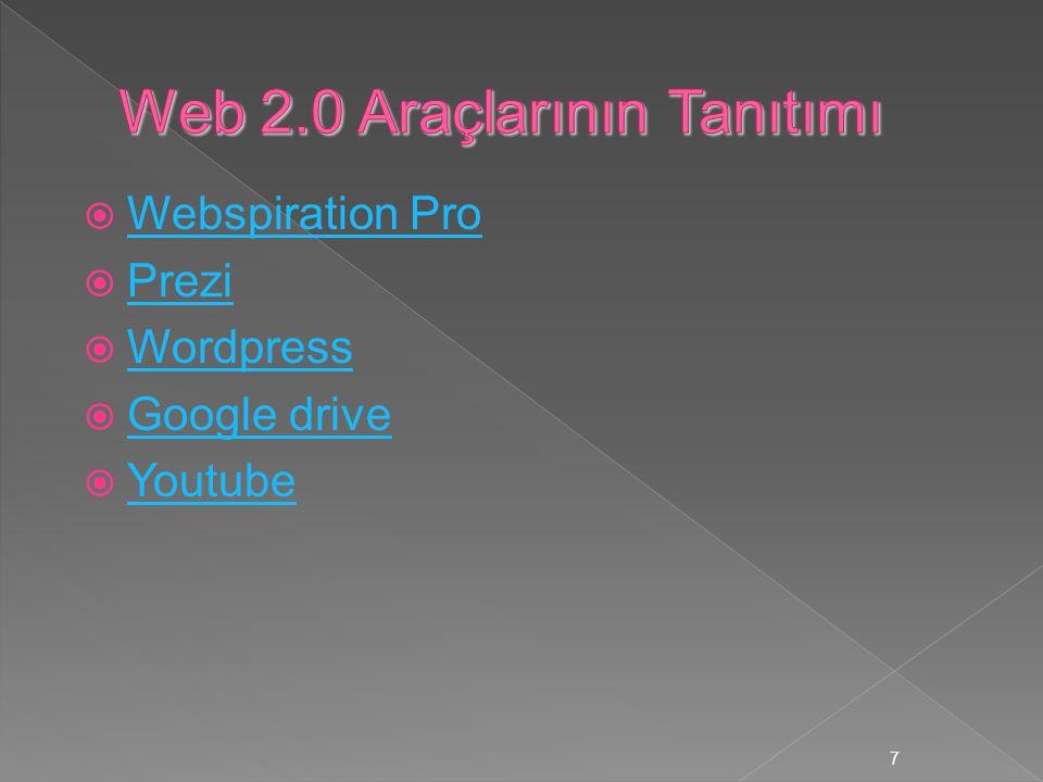 Web 2.0 Araçlarının Tanıtımı