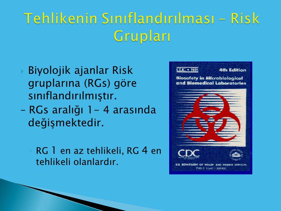 Tehlikenin Sınıflandırılması – Risk Grupları