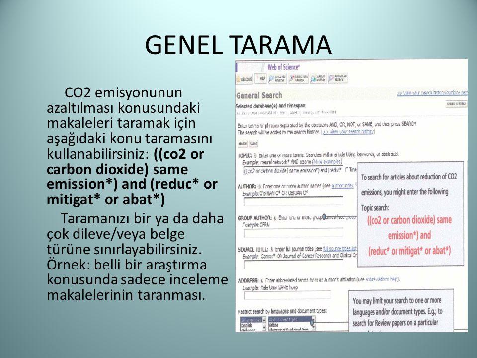 GENEL TARAMA