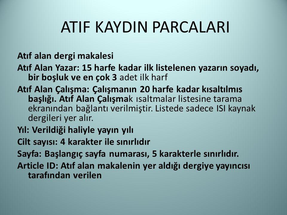 ATIF KAYDIN PARCALARI