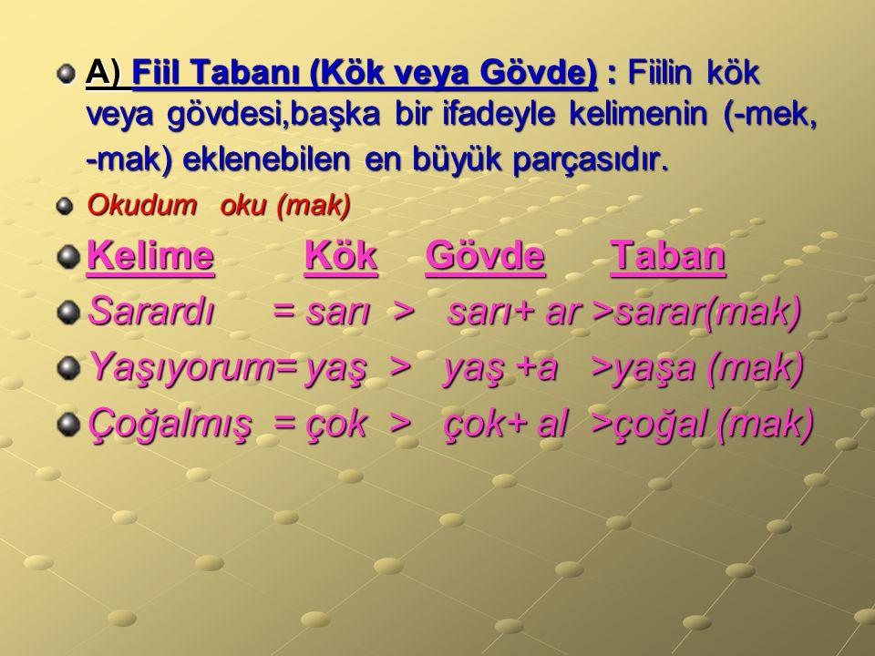 Sarardı = sarı > sarı+ ar >sarar(mak)
