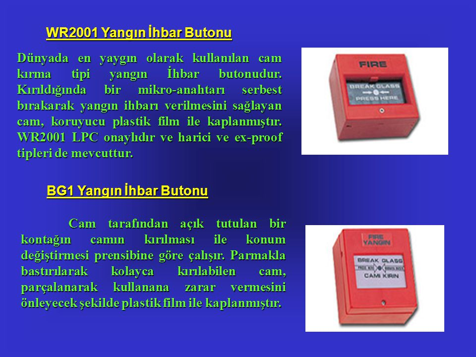 WR2001 Yangın İhbar Butonu
