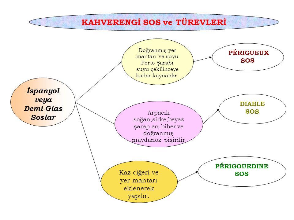 KAHVERENGİ SOS ve TÜREVLERİ