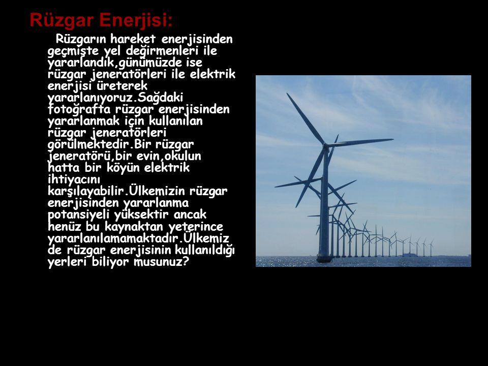 Rüzgar Enerjisi: