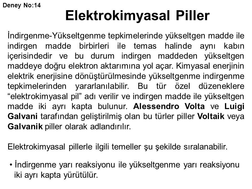 Elektrokimyasal Piller