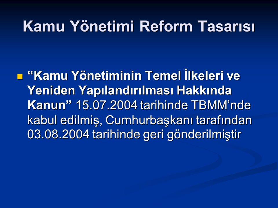 Kamu Yönetimi Reform Tasarısı