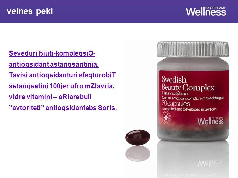 velnes peki Seveduri biuti-kompleqsiO- antioqsidant astanqsantinia.