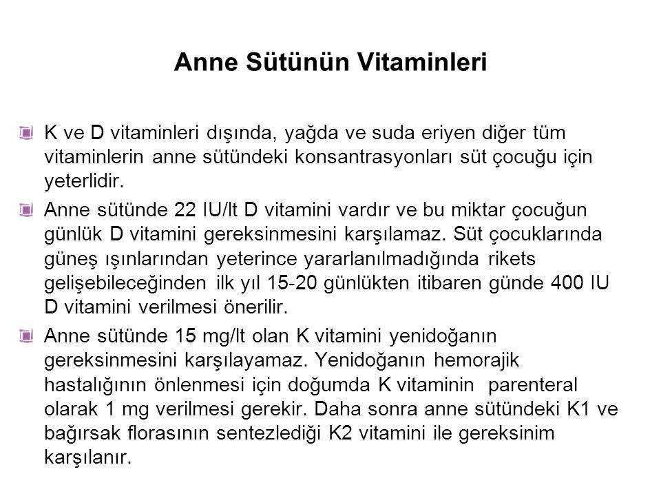 Anne Sütünün Vitaminleri