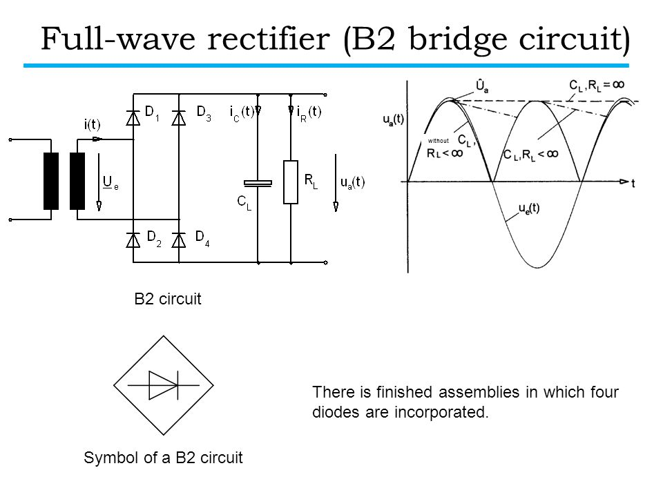 Full-wave rectifier (B2 bridge circuit)