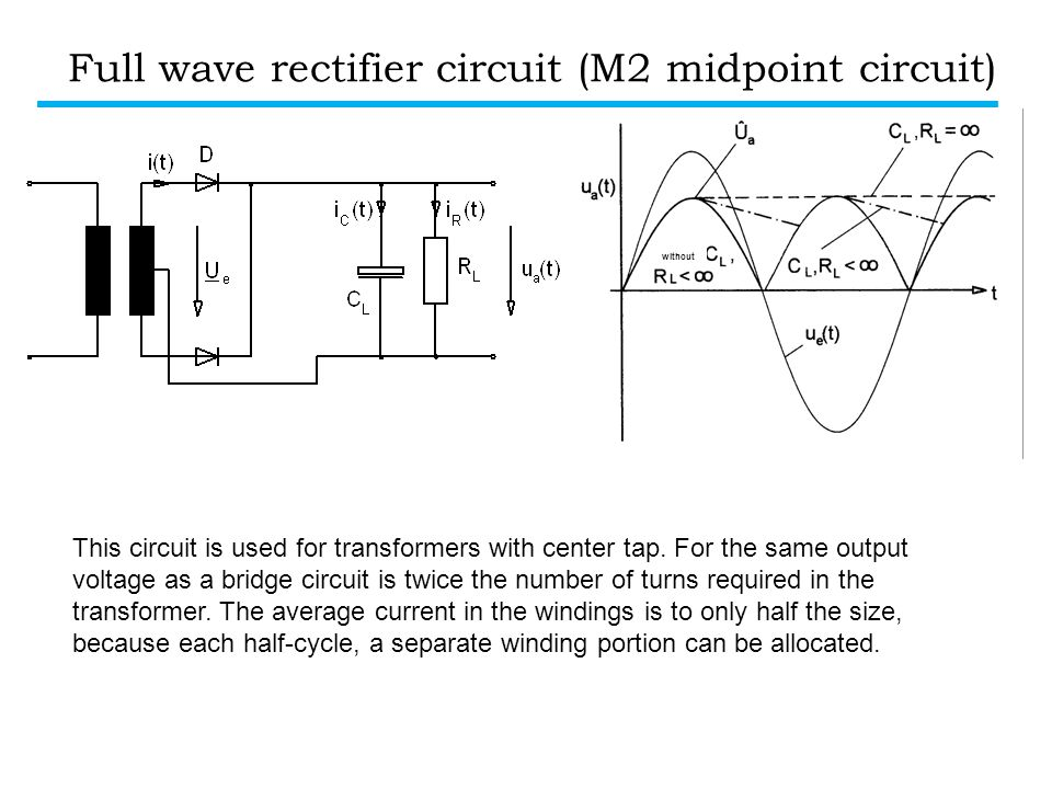 Full wave rectifier circuit (M2 midpoint circuit)