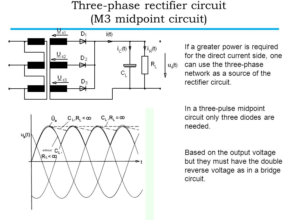 Three-phase rectifier circuit (M3 midpoint circuit)