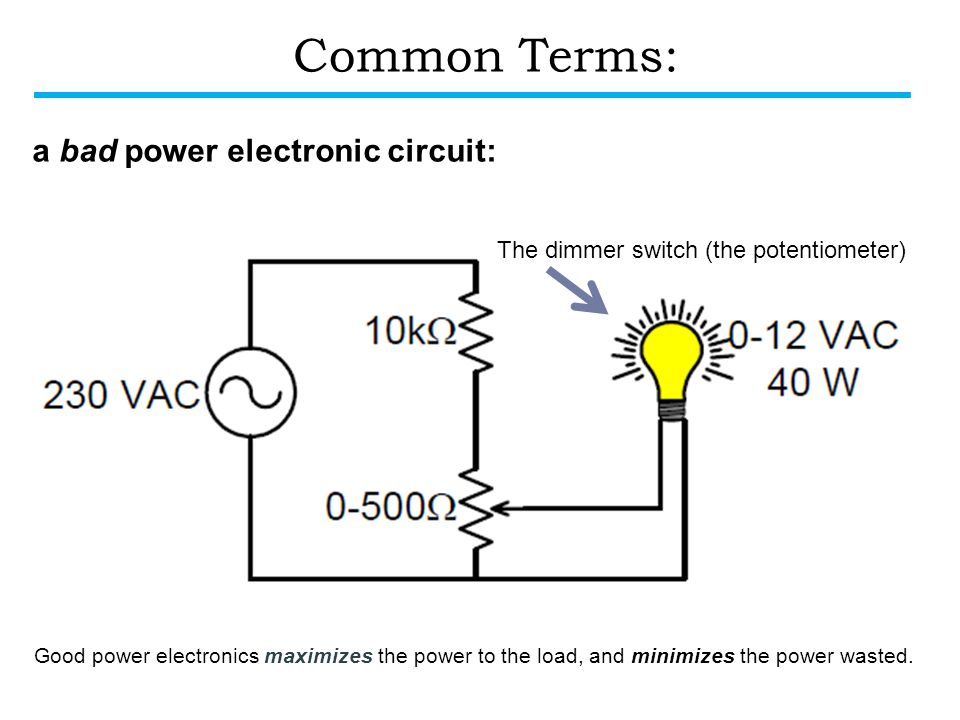 Common Terms: a bad power electronic circuit: