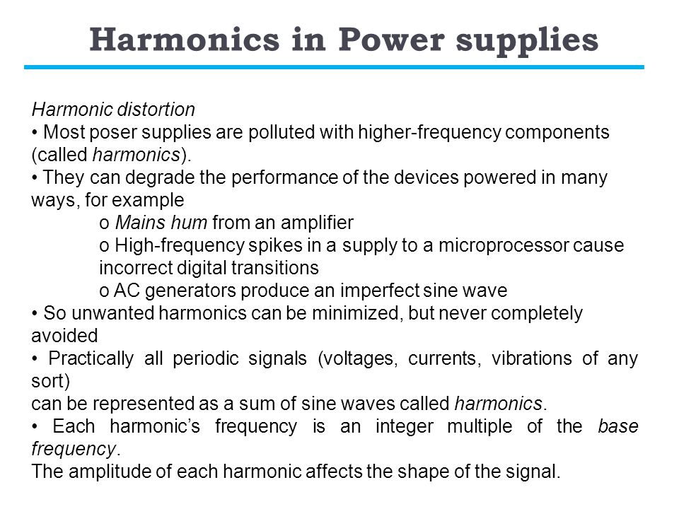 Harmonics in Power supplies