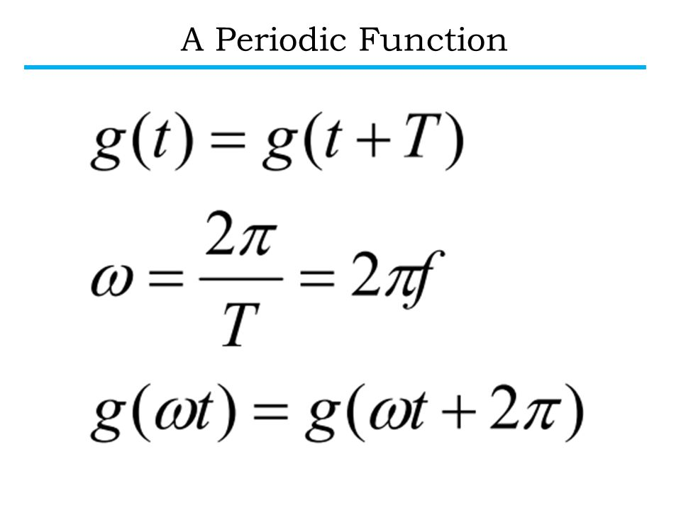A Periodic Function EE40, Fall 2004 Prof. White