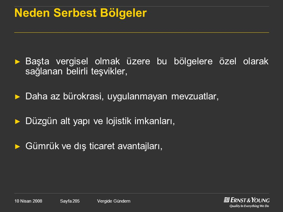 Neden Serbest Bölgeler
