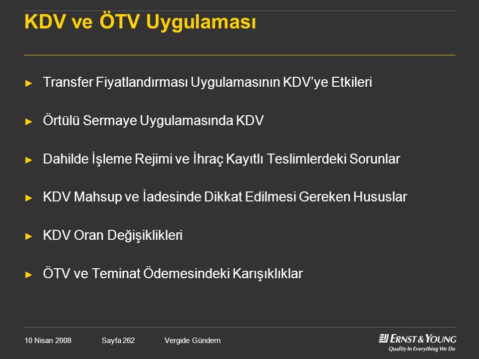 KDV ve ÖTV Uygulaması Transfer Fiyatlandırması Uygulamasının KDV'ye Etkileri. Örtülü Sermaye Uygulamasında KDV.