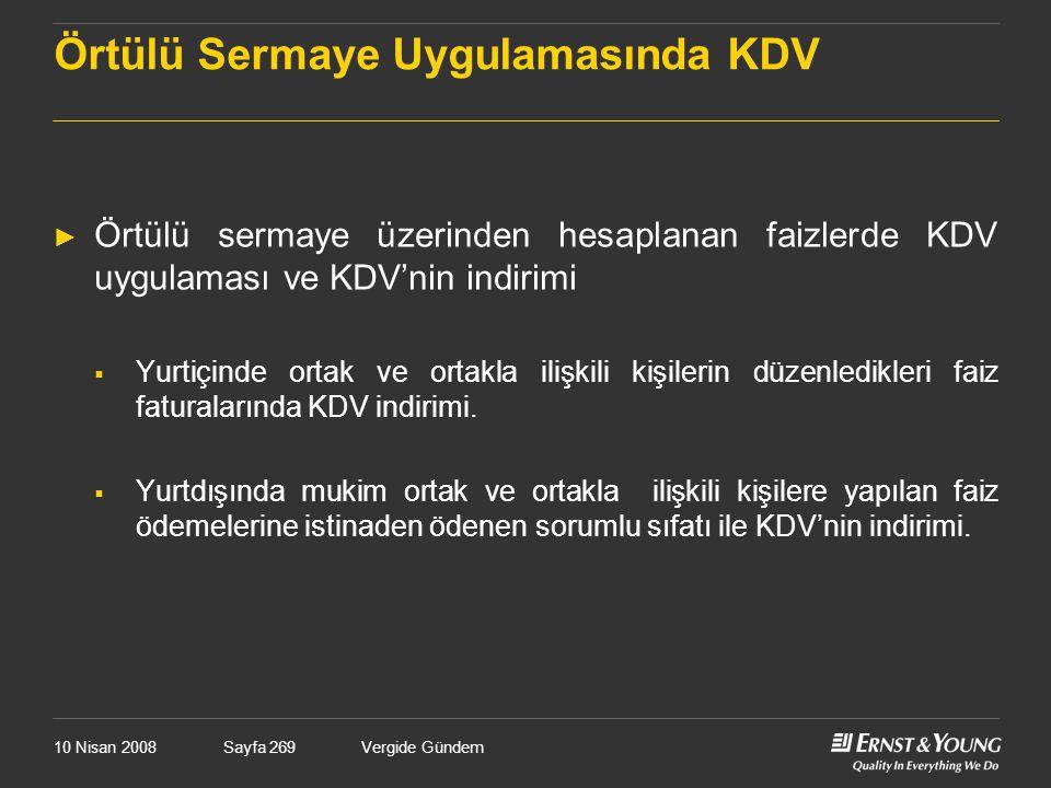 Örtülü Sermaye Uygulamasında KDV
