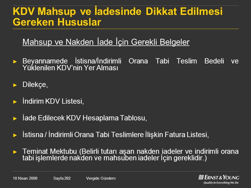 KDV Mahsup ve İadesinde Dikkat Edilmesi Gereken Hususlar