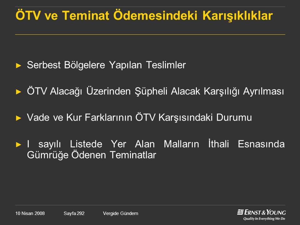 ÖTV ve Teminat Ödemesindeki Karışıklıklar