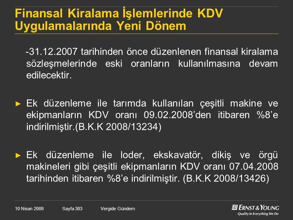 Finansal Kiralama İşlemlerinde KDV Uygulamalarında Yeni Dönem