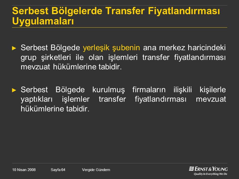 Serbest Bölgelerde Transfer Fiyatlandırması Uygulamaları