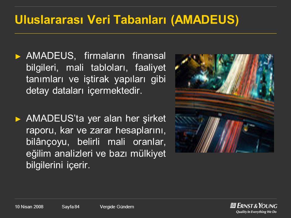 Uluslararası Veri Tabanları (AMADEUS)
