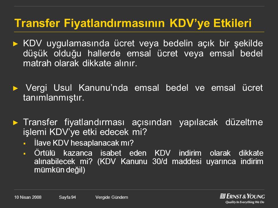 Transfer Fiyatlandırmasının KDV'ye Etkileri