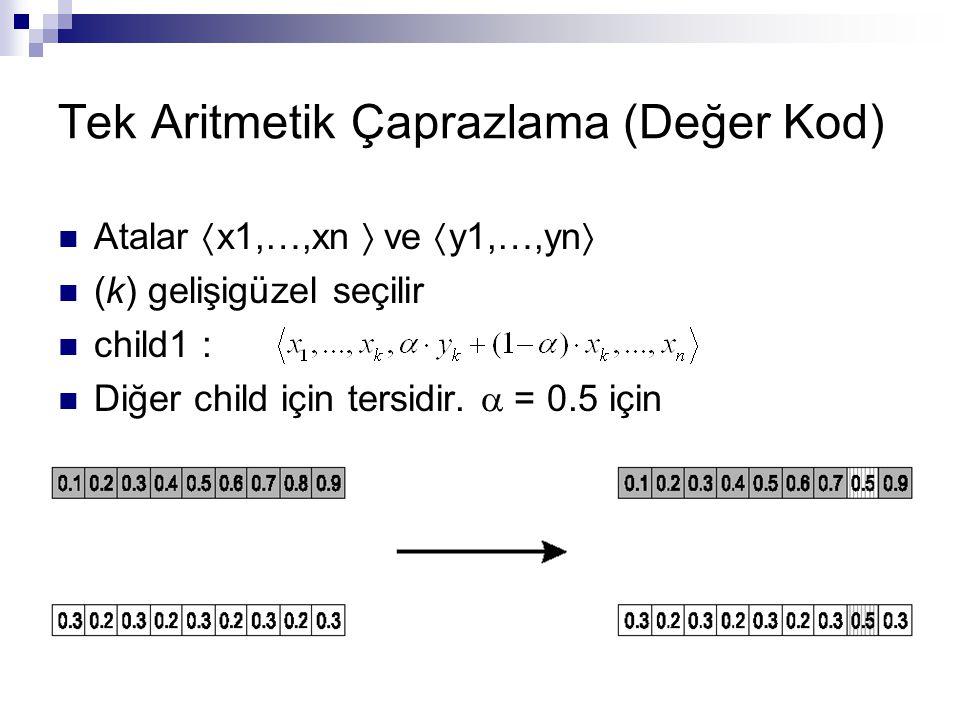 Tek Aritmetik Çaprazlama (Değer Kod)