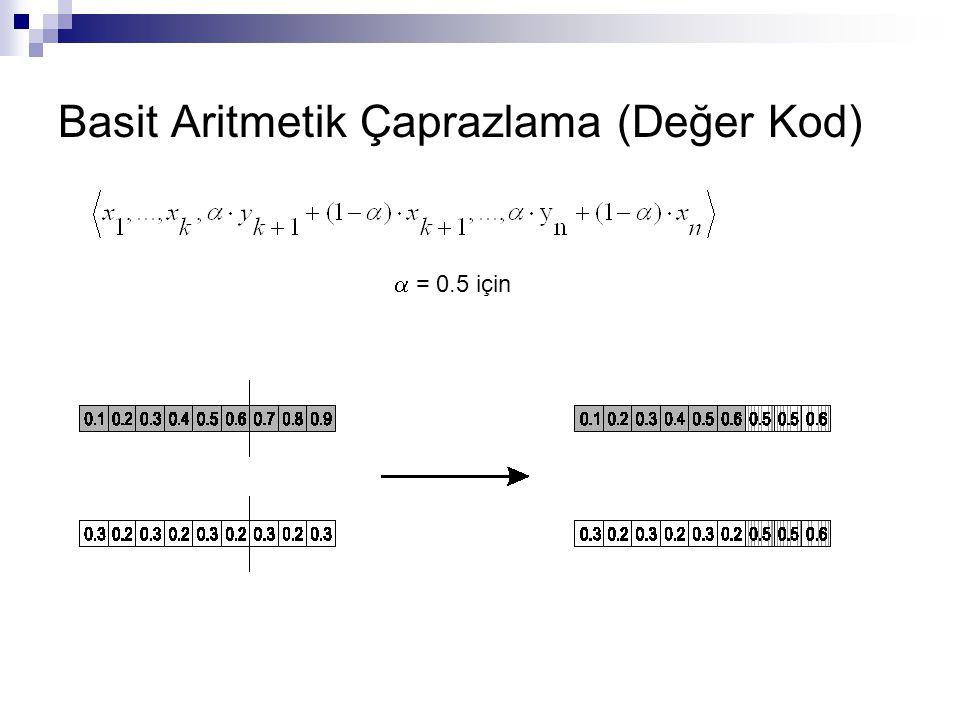 Basit Aritmetik Çaprazlama (Değer Kod)