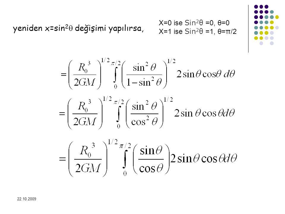 yeniden x=sin2 değişimi yapılırsa,