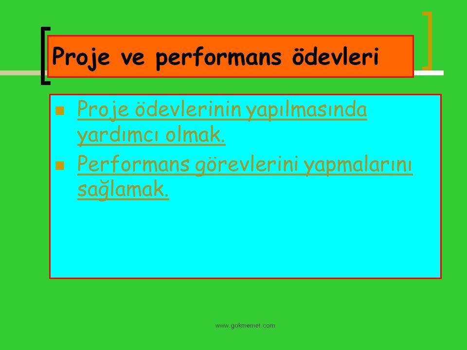 Proje ve performans ödevleri
