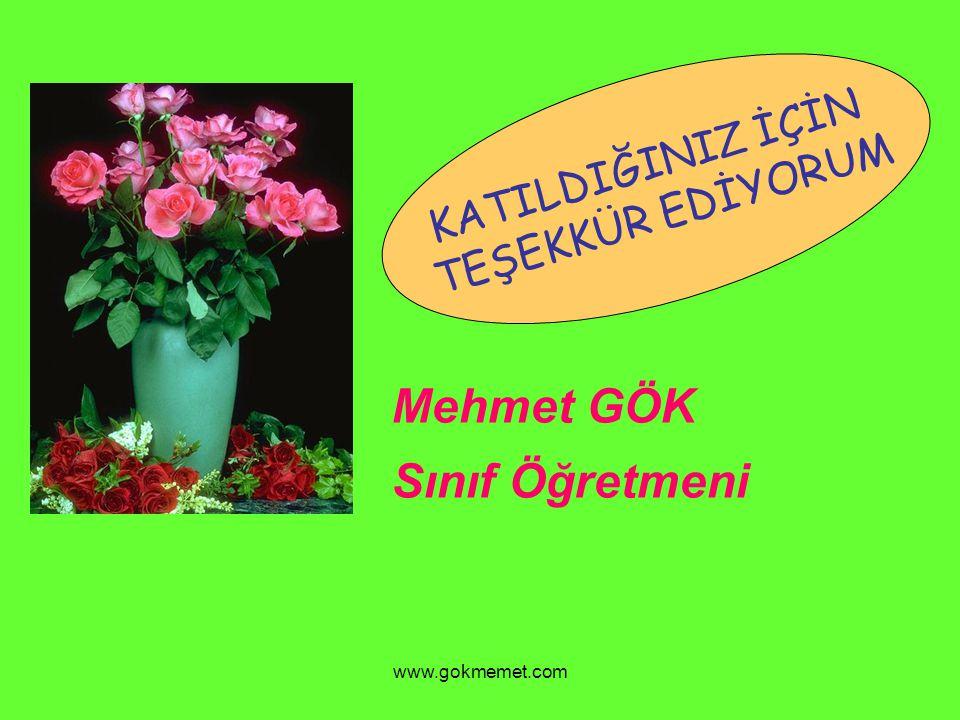 Mehmet GÖK Sınıf Öğretmeni KATILDIĞINIZ İÇİN TEŞEKKÜR EDİYORUM