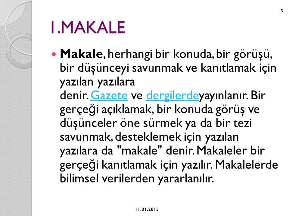 1.MAKALE