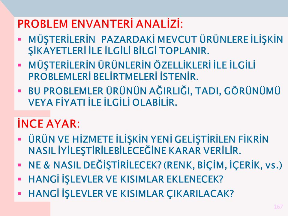 PROBLEM ENVANTERİ ANALİZİ: