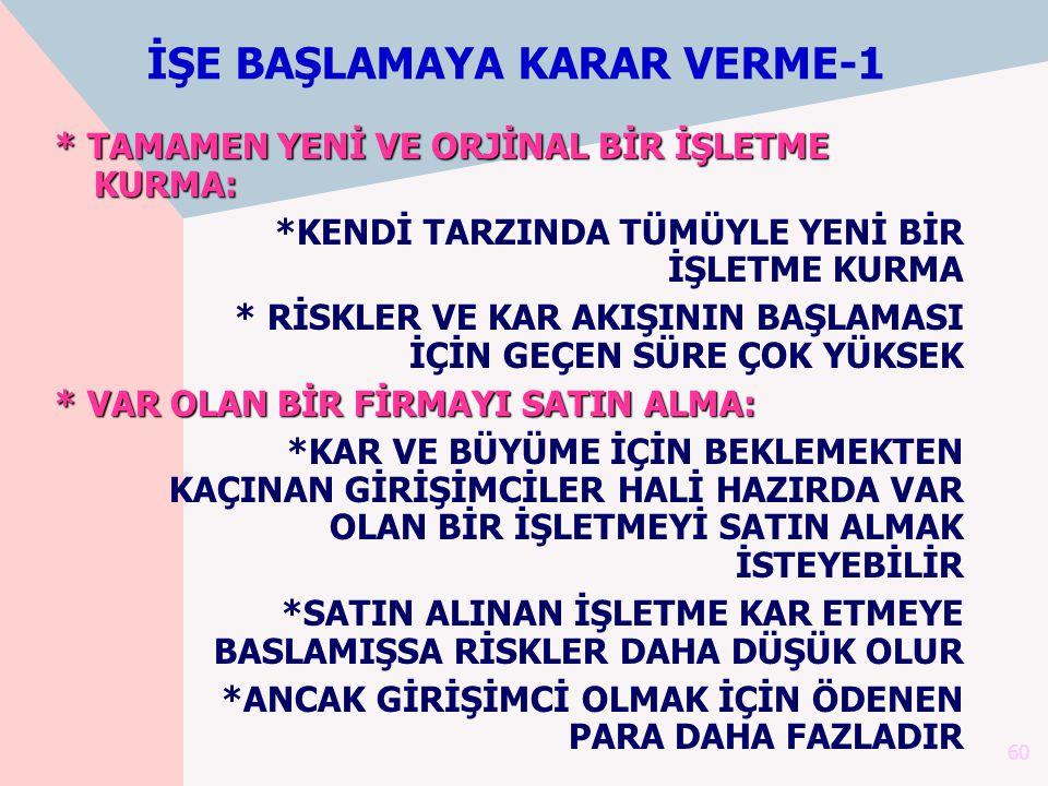 İŞE BAŞLAMAYA KARAR VERME-1