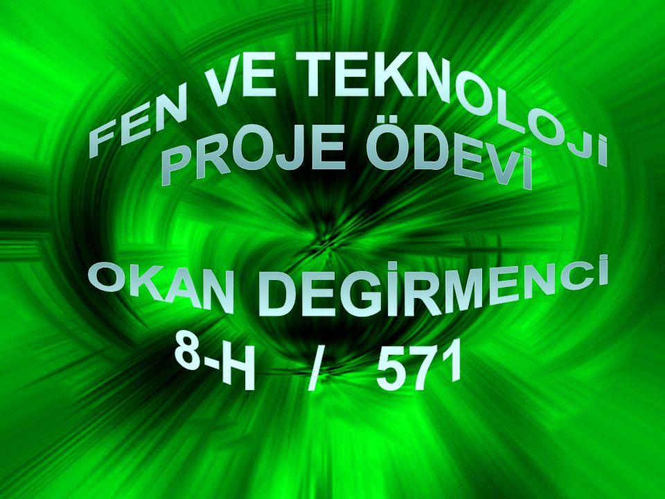 FEN VE TEKNOLOJİ PROJE ÖDEVİ OKAN DEGİRMENCİ 8-H / 571